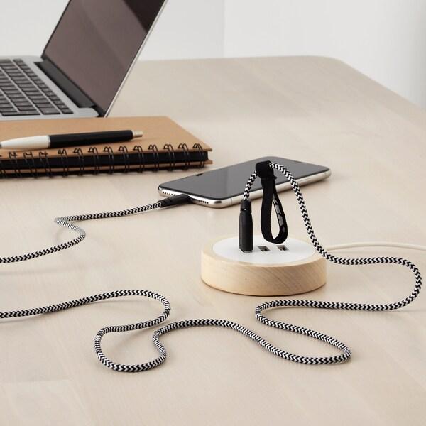 LILLHULT Kabel USB s portem Lightning, 1.5 m