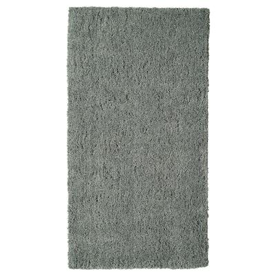 LINDKNUD Koberec, vysoký vlas, tmavě šedá, 80x150 cm