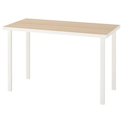 LINNMON / GODVIN Stůl, bílá vz. bíle moř. dub/bílá, 120x60 cm