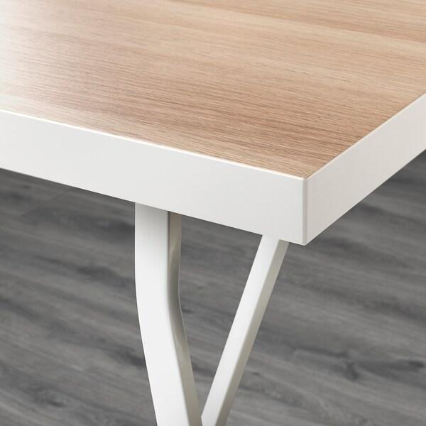 LINNMON / LERBERG Stůl, bílá vz. bíle moř. dub/bílá, 150x75 cm