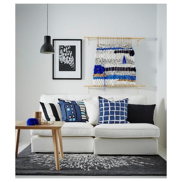 LISABO Konferenční stolek, dýha jasan, 70x70 cm