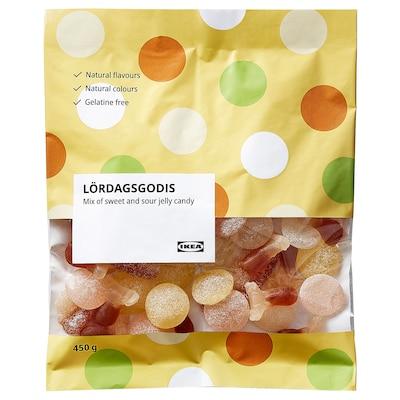 LÖRDAGSGODIS Bonbony, mix kyselý, 450 g