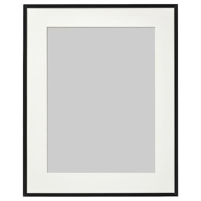 LOMVIKEN Rám, černá, 40x50 cm