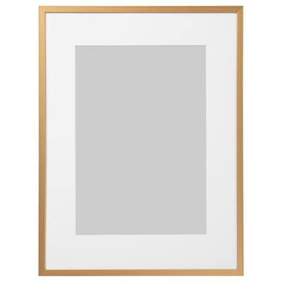LOMVIKEN Rám, zlatá barva, 30x40 cm