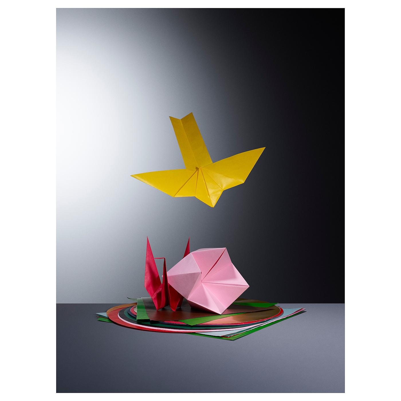 LUSTIGT Papír na origami, různé barvy/tvary mix