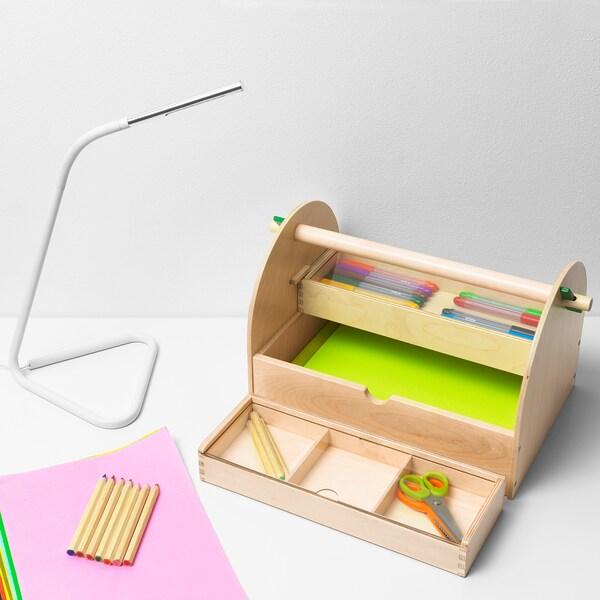 LUSTIGT Úložný prostor na výtvarné potřeby, dřevo