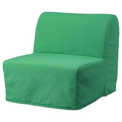LYCKSELE HÅVET Rozkládací křeslo, Vansbro jasně zelená