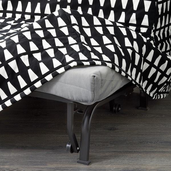 LYCKSELE MURBO rozkládací křeslo Ebbarp černá/bílá 80 cm 100 cm 87 cm 60 cm 39 cm 80 cm 188 cm 188 cm 80 cm 10 cm