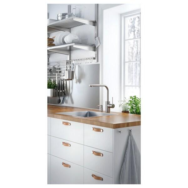 LYSEKIL Nástěnný panel, oboustranné mosazná barva/barva nerezavějící oceli, 119.6x55 cm