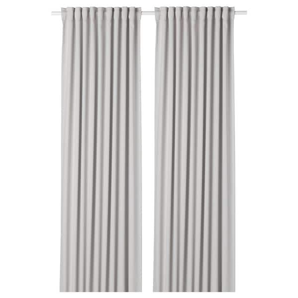 MAJGULL Zatemňovací závěsy, 1 pár, světle šedá, 145x300 cm