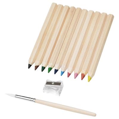 MÅLA pastelky různé barvy 10 ks