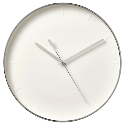 MALLHOPPA Nástěnné hodiny, stříbrná, 35 cm