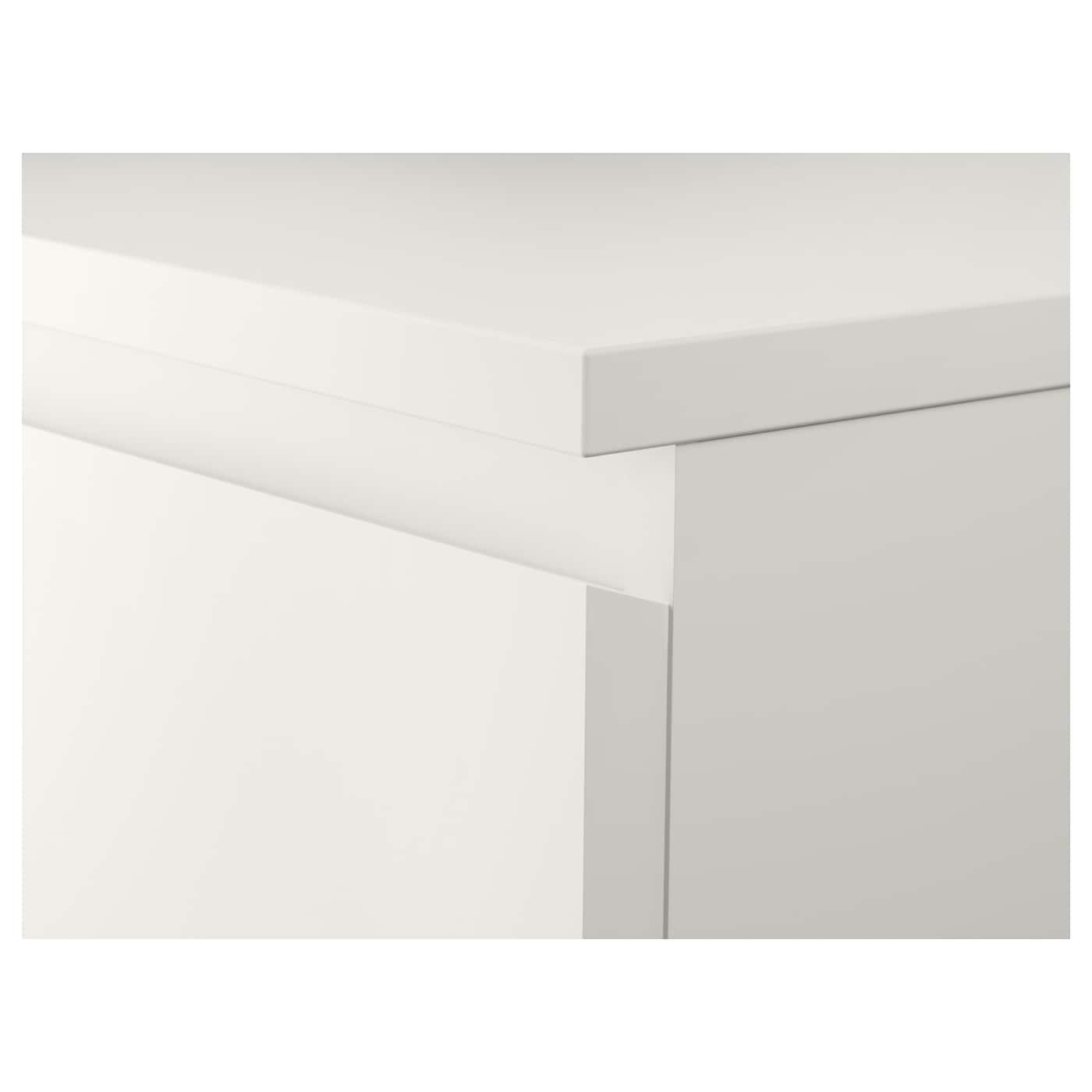 MALM Komoda se 6 zásuvkami, bílá, 80x123 cm