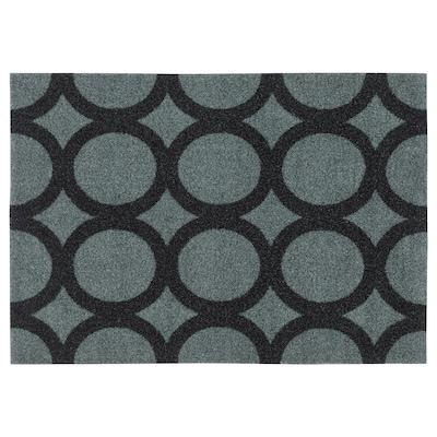 MEJLS Rohožka, kruhový vzor šedá/černá, 40x60 cm