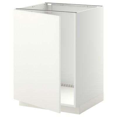 METOD skříňka na dřez bílá/Häggeby bílá 60.0 cm 61.6 cm 88.0 cm 60.0 cm 80.0 cm