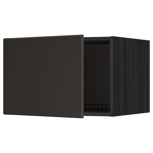 METOD Horní skř. na chladničku/mrazničku, černá/Kungsbacka antracit, 60x40 cm