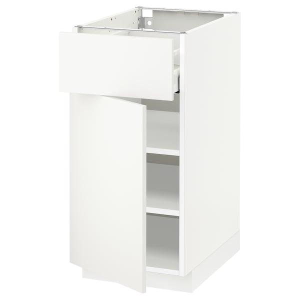 METOD / MAXIMERA spod. skříňka se zásuvkou/dvířky bílá/Häggeby bílá 40.0 cm 61.6 cm 88.0 cm 60.0 cm 80.0 cm