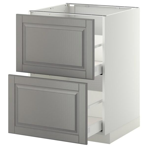 METOD / MAXIMERA Spod.sk. 2čela/2 vysoké zás., bílá/Bodbyn šedá, 60x60 cm