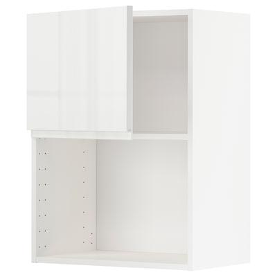 METOD Nást. skříňka na mikr. troubu, bílá/Voxtorp lesklá bílá, 60x80 cm