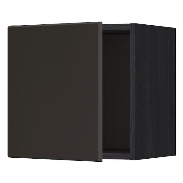 METOD Nástěnná skříňka, černá/Kungsbacka antracit, 40x40 cm