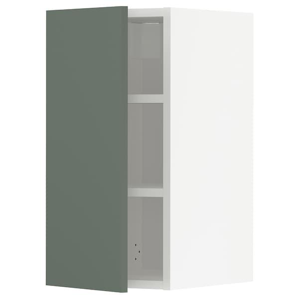 METOD Nástěnná skříňka s policemi, bílá/Bodarp šedo-zelená, 30x60 cm
