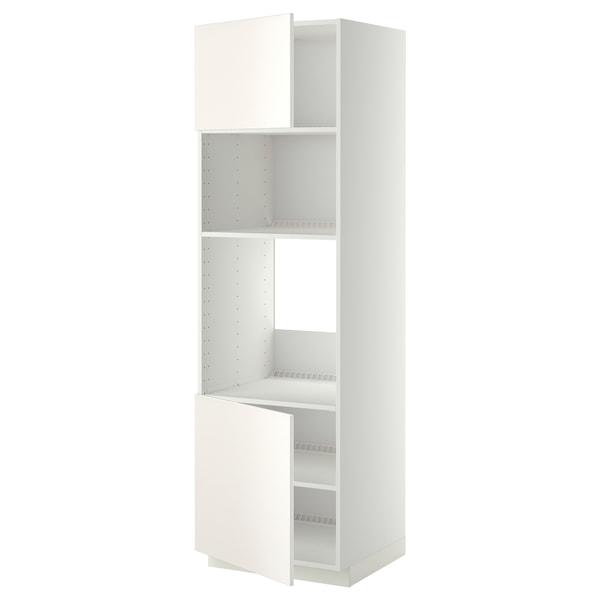 METOD V.sk na troubu/mikr. se 2 zás./pol., bílá/Veddinge bílá, 60x60x200 cm