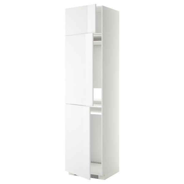 METOD Vys. sk. chlad./mraz. 3 dveře, bílá/Ringhult bílá, 60x60x240 cm