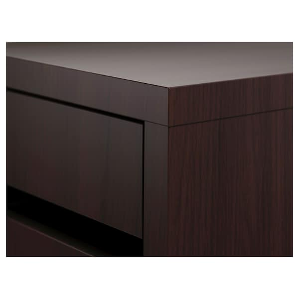 MICKE Zásuvkový díl na kolečkách, černohnědá, 35x75 cm