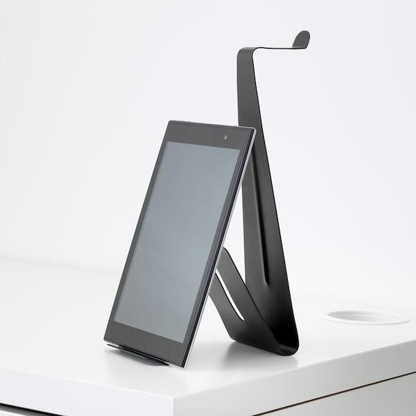 MÖJLIGHET Stojan na tablet a sluchátka, černá