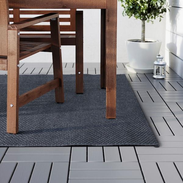 MORUM Hladce tkaný koberec, vn./venk., tmavě šedá, 160x230 cm
