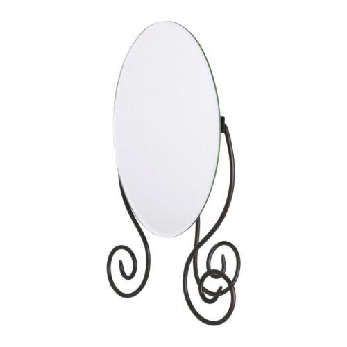MYKEN Stolní zrcadlo, tmavě hnědá Šířka: 25 cm Výška: 37 cm
