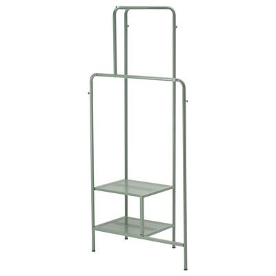 NIKKEBY šatní stojan šedo-zelená 80 cm 40 cm 170 cm