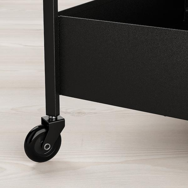NISSAFORS Vozík, černá, 50.5x30x83 cm