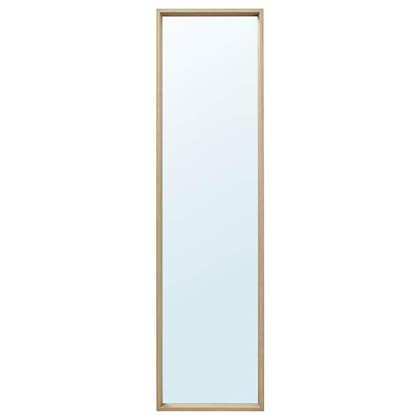 NISSEDAL Zrcadlo, vz. bíle moř. dub, 40x150 cm