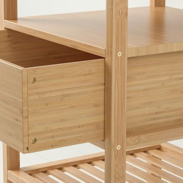 NORDKISA noční stolek bambus 40 cm 40 cm 67 cm