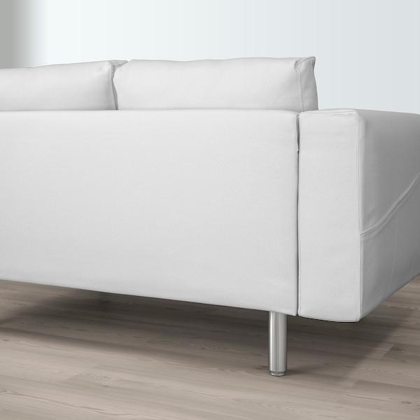 NORSBORG Rohová pohovka, 5místná Finnsta bílý/kov 88 cm 85 cm 285 cm 225 cm 18 cm 60 cm 43 cm