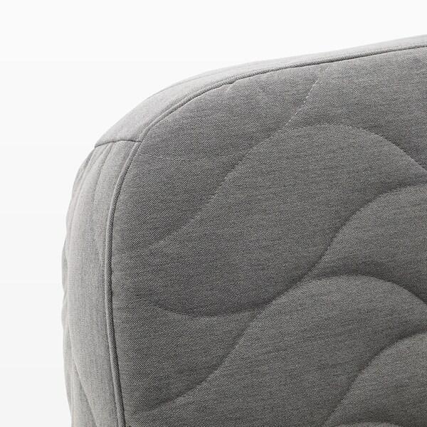 NYHAMN 3místná rozkládací pohovka, s latexovou matrací/Knisa šedá/béžová