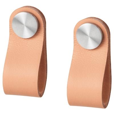 ÖSTERNÄS kožené úchytky vyčiněná kůže 65 mm 25 mm 19 mm 7 mm 2 ks
