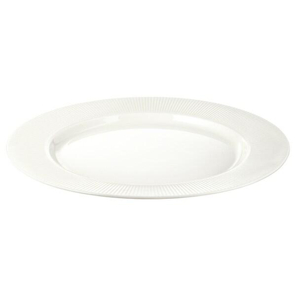 OFANTLIGT Talíř, bílá, 28 cm