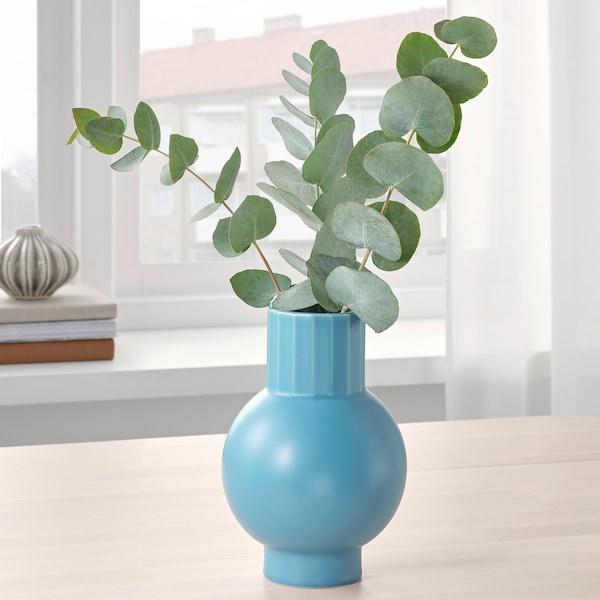 OMFÅNG Váza, modrá, 20 cm