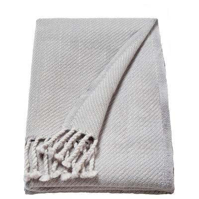OMTÄNKSAM Pléd, světle šedá, 60x160 cm