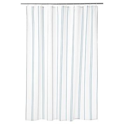 OTTSJÖN sprchový závěs bílá/modrá 60 g/m² 200 cm 180 cm 3.60 m² 60 g/m²