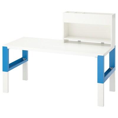 PÅHL stůl s nástavcem bílá/modrá 128 cm 58 cm 98 cm 111 cm 50 kg