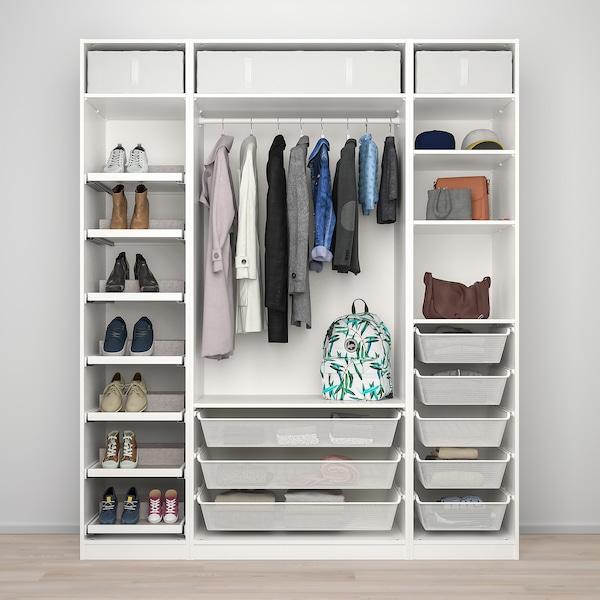 PAX / REINSVOLL Šatní skříň, bílá/šedobéžová, 200x60x236 cm