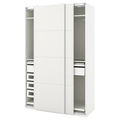 PAX / TJÖRHOM Šatní skříň, bílá, 150x66x236 cm