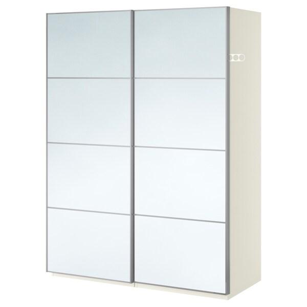 PAX šatní skříň bílá/Auli zrcadlové sklo 150 cm 66 cm 201.2 cm