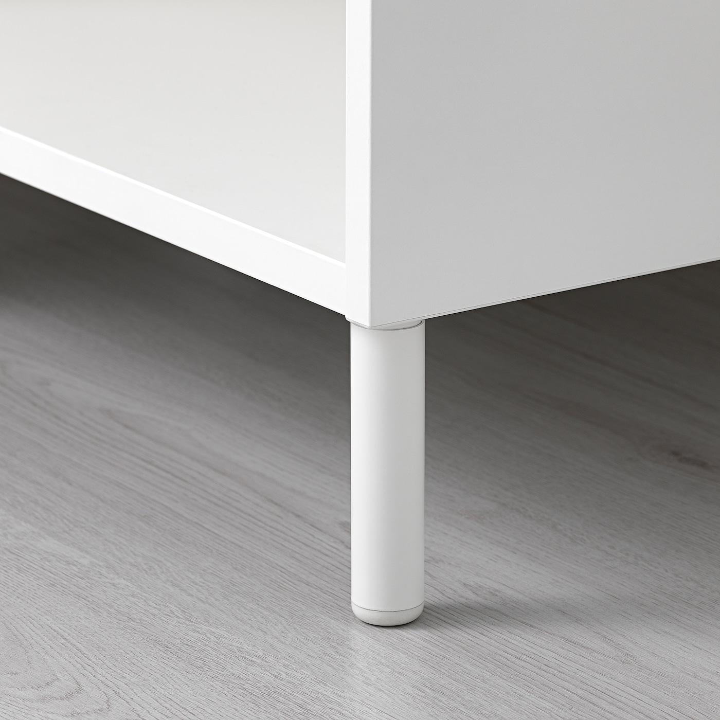 PLATSA Šatní skříň, bílá/Fonnes bílá, 160x57x231 cm