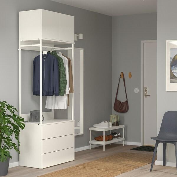 PLATSA Skříň/2 dveře + 3 zásuvky, bílá/Fonnes bílá, 80x42x221 cm