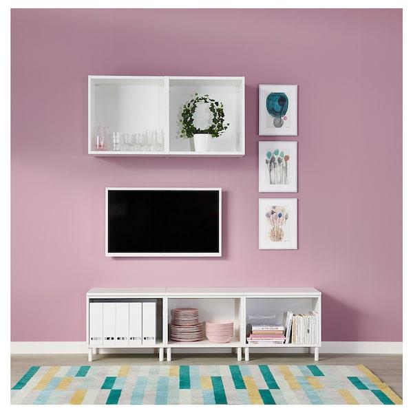 PLATSA Skříňka, bílá/Fonnes bílá, 180x42x113 cm