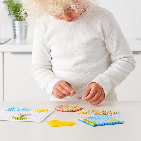 PYSSLA Korálky, různé pastelové barvy, 600 g